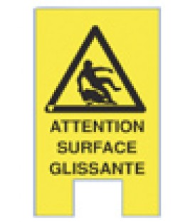 "Signalétique temporaire ""Attention surface glissante"""