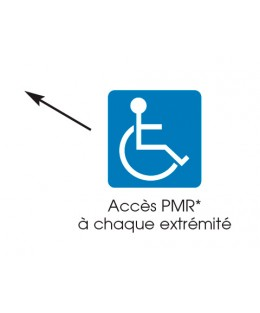 Table-banc Océane PMR à poser